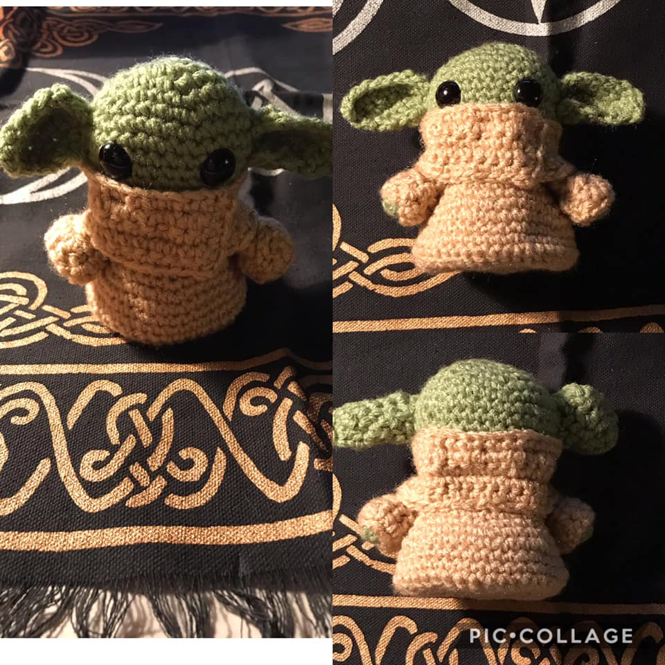Baby yoda inspired plushie 4 inch