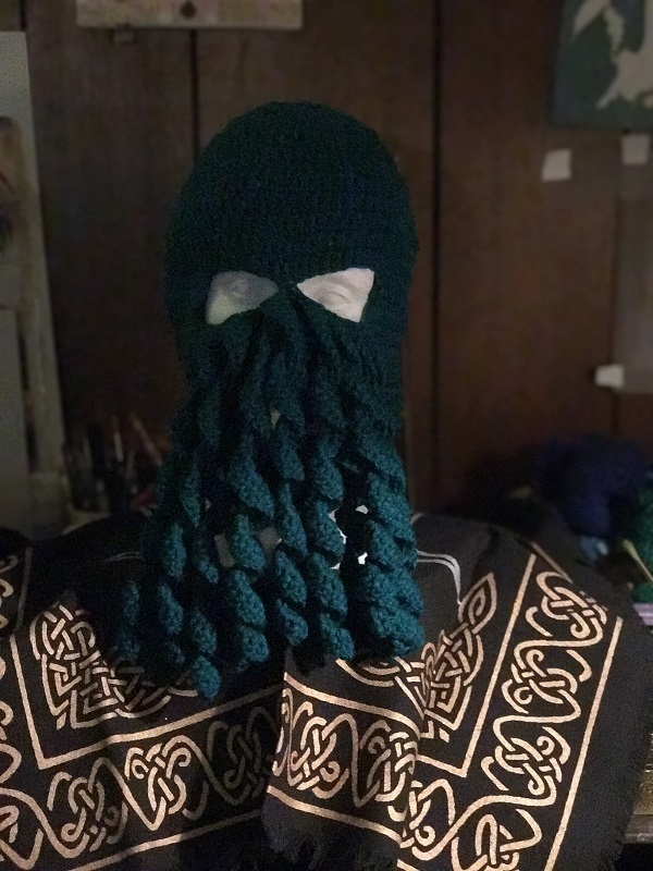 Cthulhu Mask Real Teal