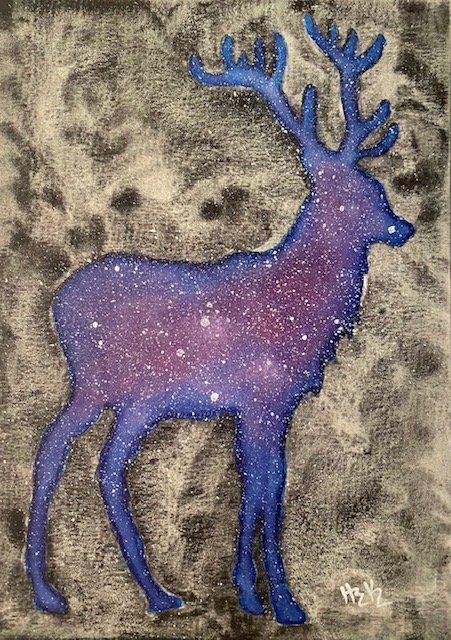 Galaxy Silhouette Stag