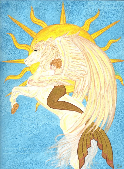 The Sun (Mermaid Tarot)