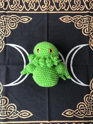 Green Baby Cthulu medium