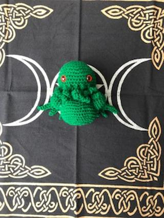 Green baby Cthulu small