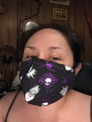 Mask Disney Villains glitter cotton knit