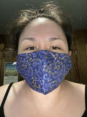 Mask Purple and gold scroll