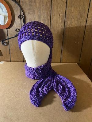 mermaid scarf hat purple haze