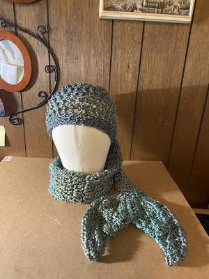 mermaid scarf hat regency