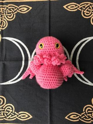 Pink Baby Cthulu medium